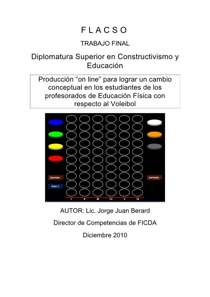 """Articulo para estudiantes de Educación Física sobre:""""El Ábaco del Voleibol"""", por Jorge Juan Berard"""