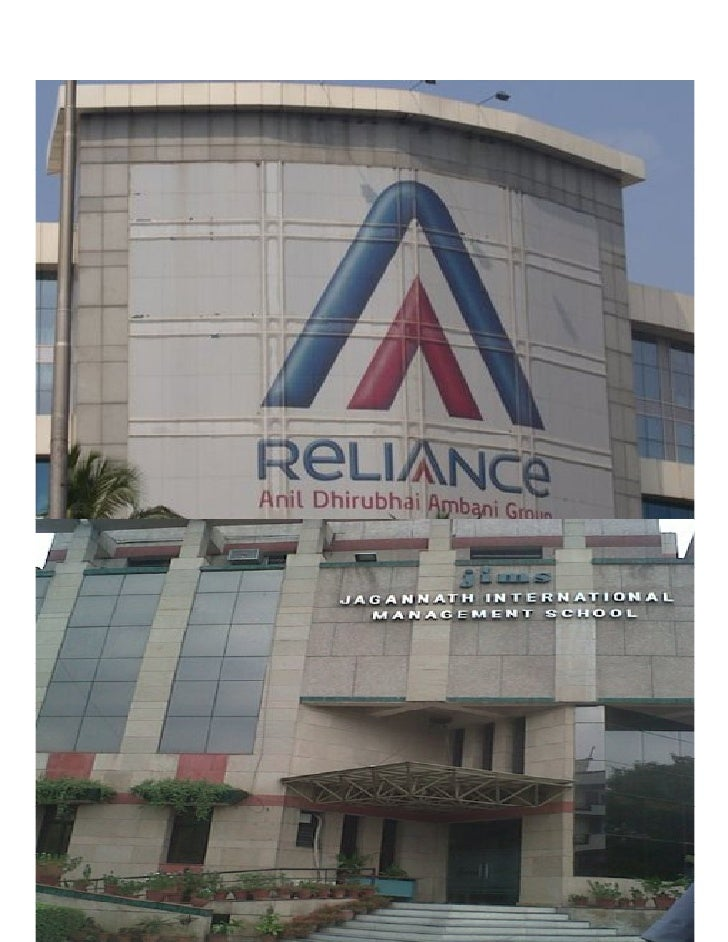 Project Report On Reliance PMS