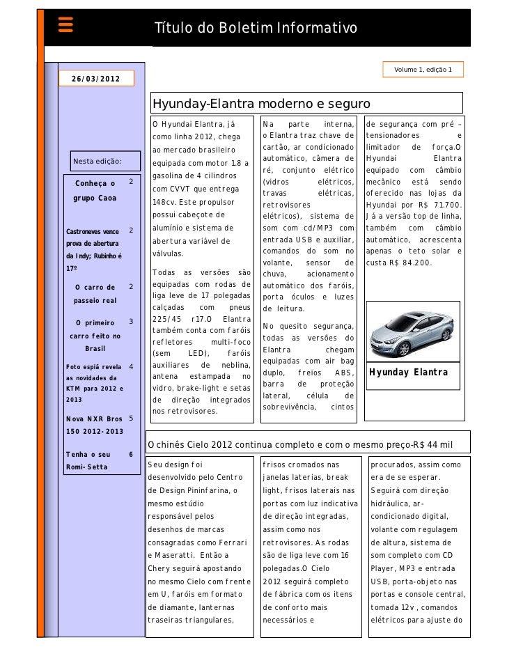 Título do Boletim Informativo                                                                                           Vo...
