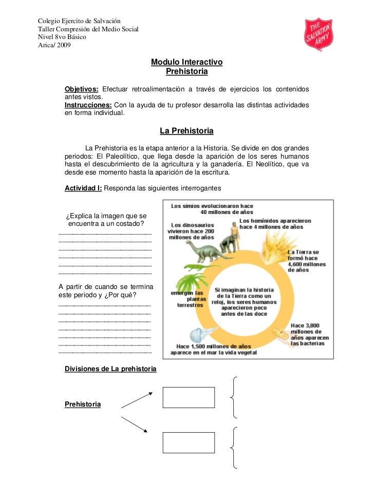 Colegio Ejercito de SalvaciónTaller Compresión del Medio SocialNivel 8vo BásicoArica/ 2009                                ...