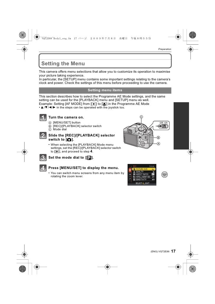 Preparation      Setting the Menu This camera offers menu selections that allow you to customize its operation to maximise...