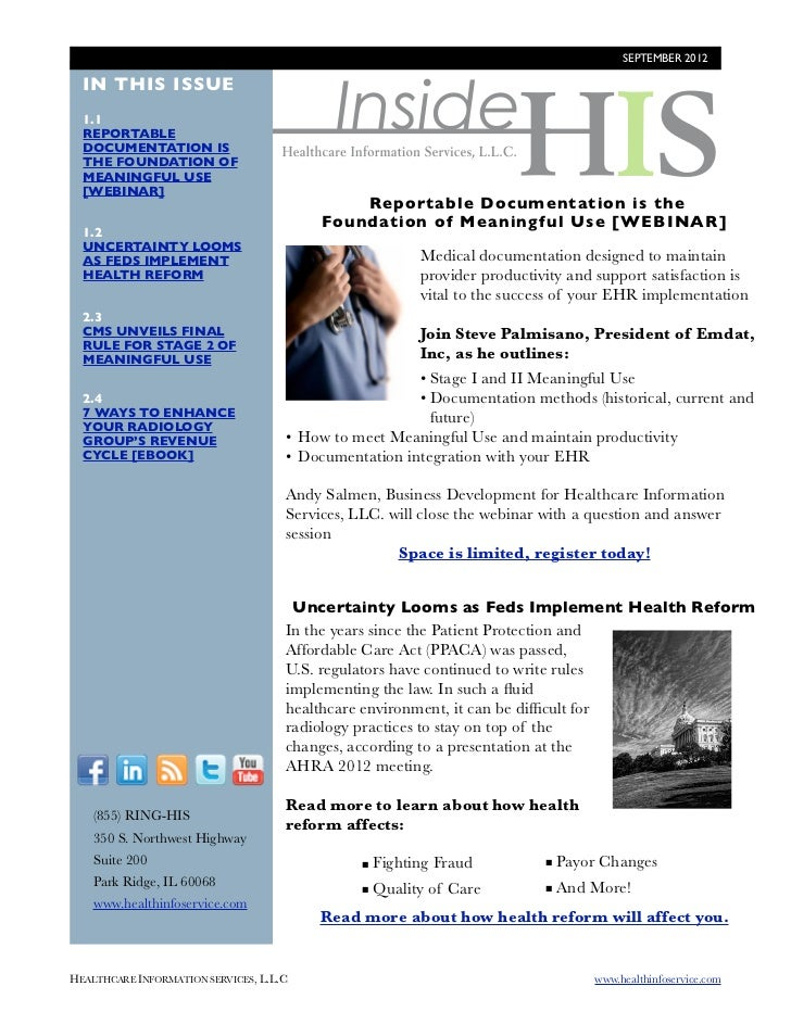 SEPTEMBER 2012                                             Inside  IN THIS ISSUE  1.1  REPORTABLE  DOCUMENTATION IS  THE F...