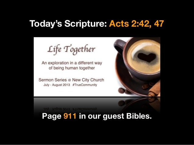 Life Together: Be Devoted to One Another (Acts 2:42)