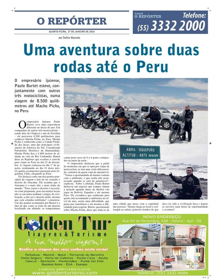 O REPÓRTER                                qUARTA-FEIRA, 27 DE JANEIRO DE 2010                                          por...
