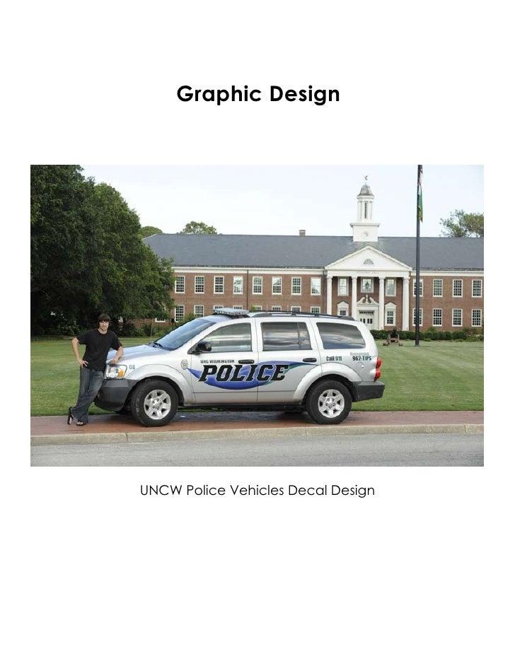 Graphic Design     UNCW Police Vehicles Decal Design
