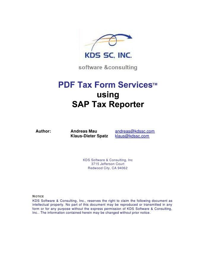 Pdf Tax Form Services   Whitepaper V1.1