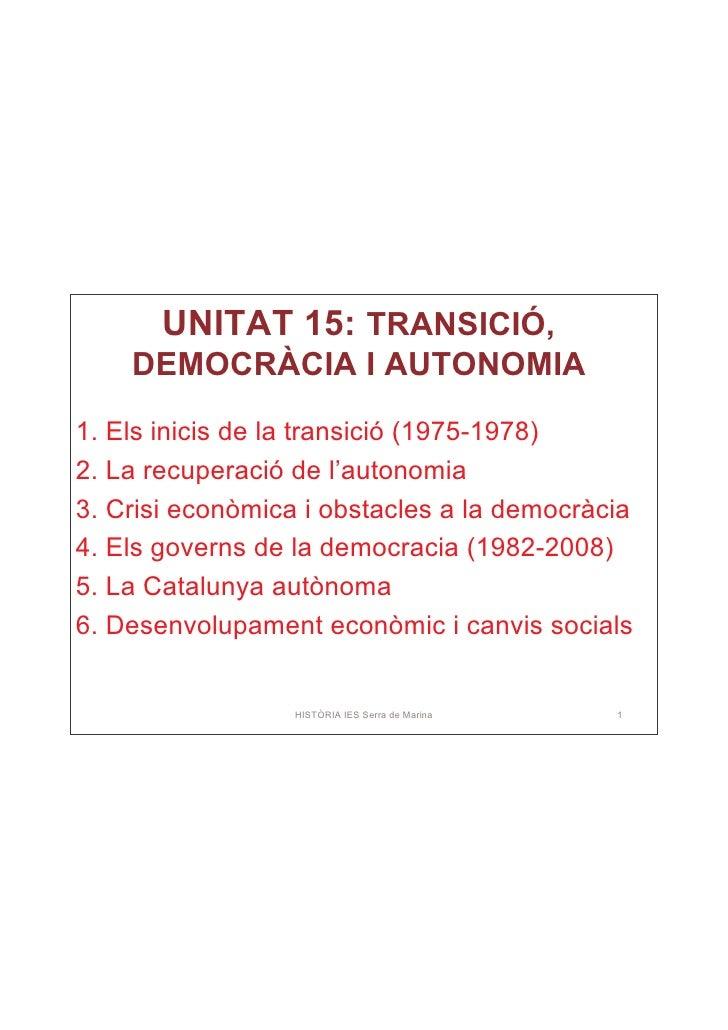 Pdf Tema 15: Transició, democràcia i autonomia