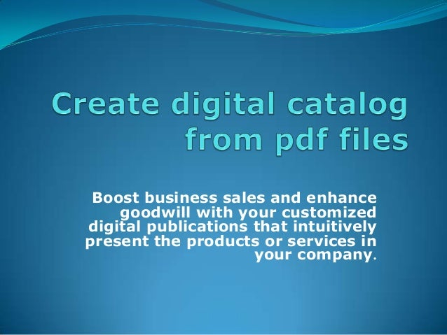 Create Digital Catalogs From PDF