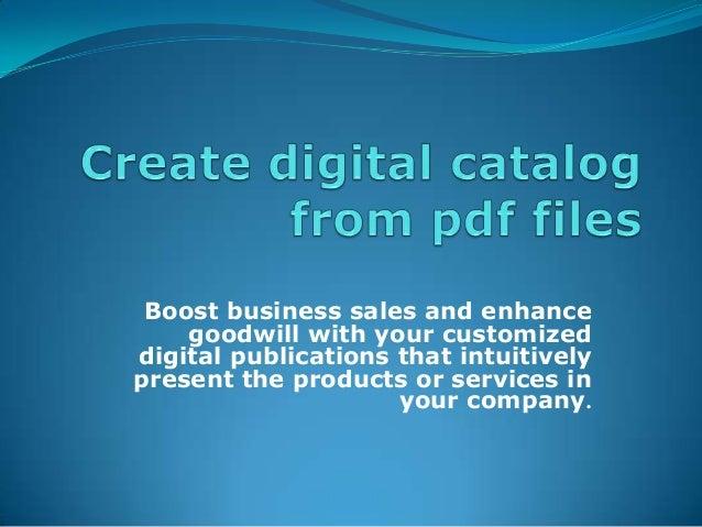 Create Digital Catalogs From PDF