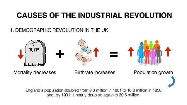 Population density fostered literacy, the Industrial Revolution ...