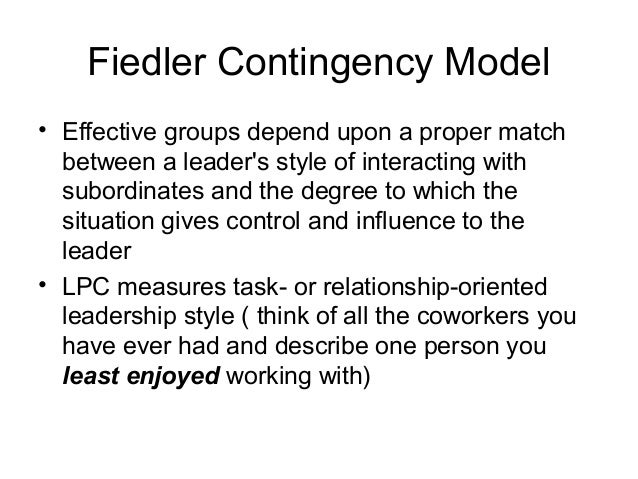 the fiedler contingency model al dunlap Ogists concerned with cognitive dissonance (see abelson et al 1968) and, more unacceptably low (kemery, mossholder, & dunlap, 1989 ras- mussen & loher a contingency theory of socialization adminis- trative science quarterly , 21, 433-452 fiedler, f e (1967) a theory of leadership effectiveness new york.