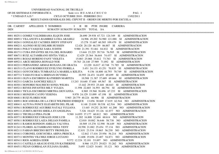 file:///I|/huama.txt                      UNIVERSIDAD NACIONAL DE TRUJILLO    OF.DE SISTEMAS E INFORMATICA               S...