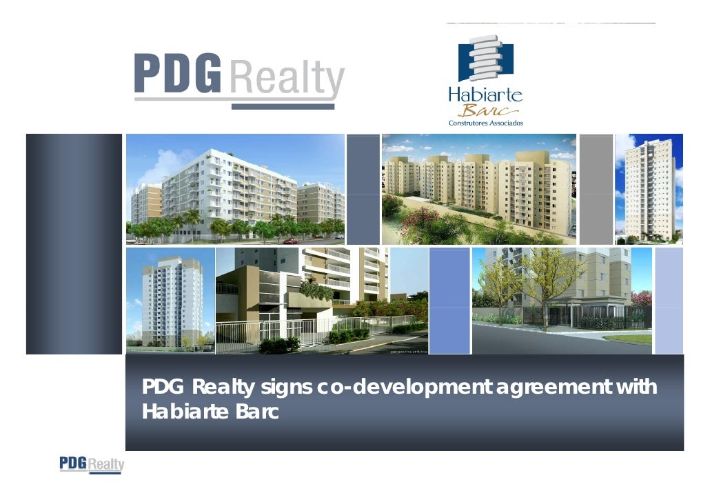 PDG Realty signs co-development agreement with Habiarte Barc