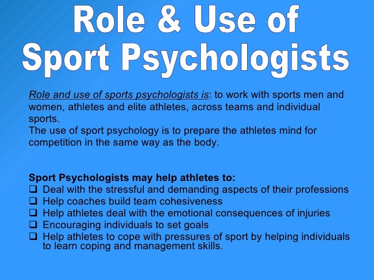 Sports Psychology Careers