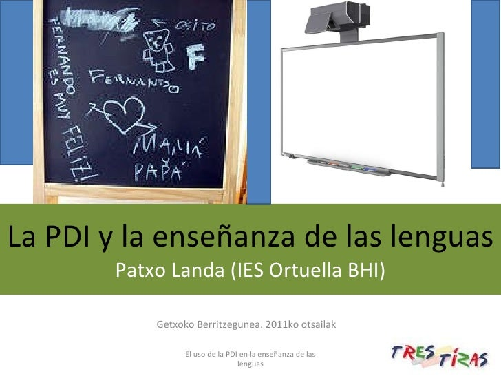 La PDI y la enseñanza de lenguas Getxo Patxo Landa