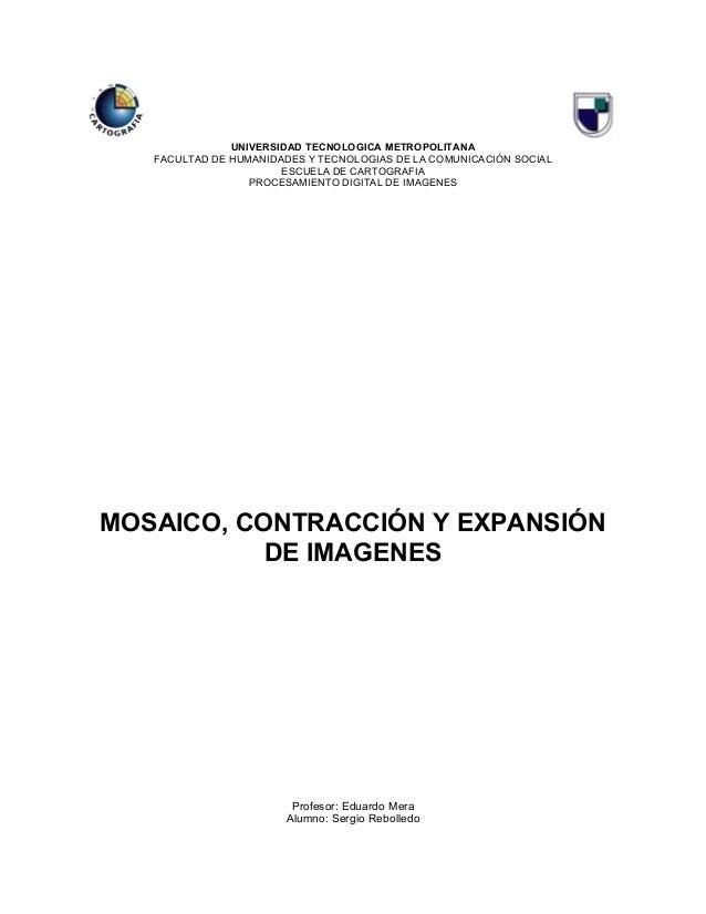 UNIVERSIDAD TECNOLOGICA METROPOLITANA   FACULTAD DE HUMANIDADES Y TECNOLOGIAS DE LA COMUNICACIÓN SOCIAL                   ...