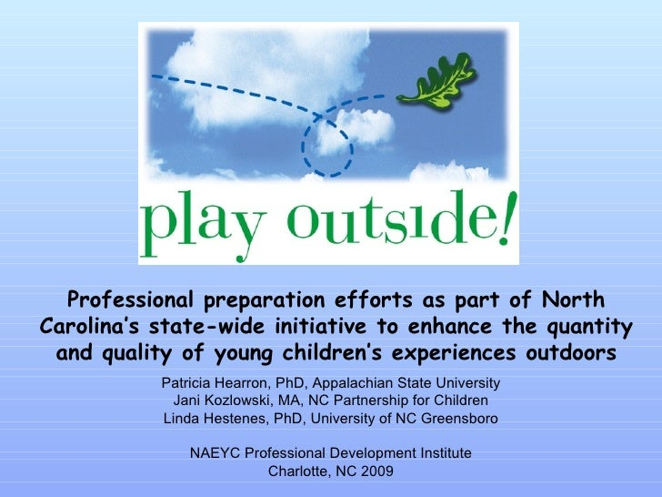 Professional preparation efforts as part of North Carolina's state-wide initiative to enhance the quantity and quality of ...