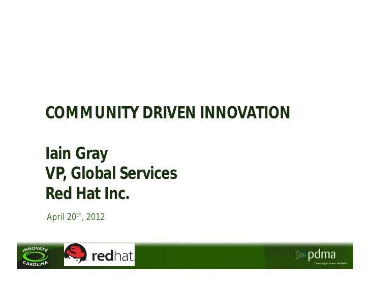 Iain Gray Presentation Innovate Carolina 2012