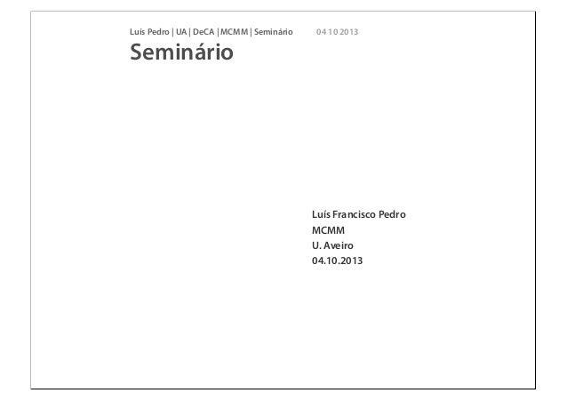 Projeto dissertação MCMM 2013_10_04