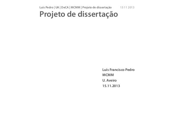 Projeto dissertação MCMM 2013_11_15