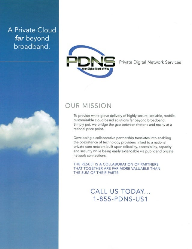 @AgileCloud_ICH Briefing on Private Digital Network Services Overview (PDNS)