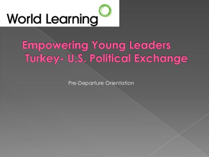 Empowering Young Leaders, Pre-departure Orientation