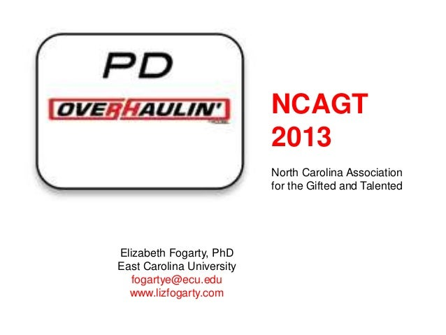 NCAGT                           2013                           North Carolina Association                           for th...