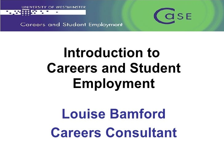 Introduction to Careers and Student Employment