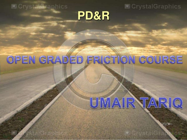 open graded friction course (OGFC)