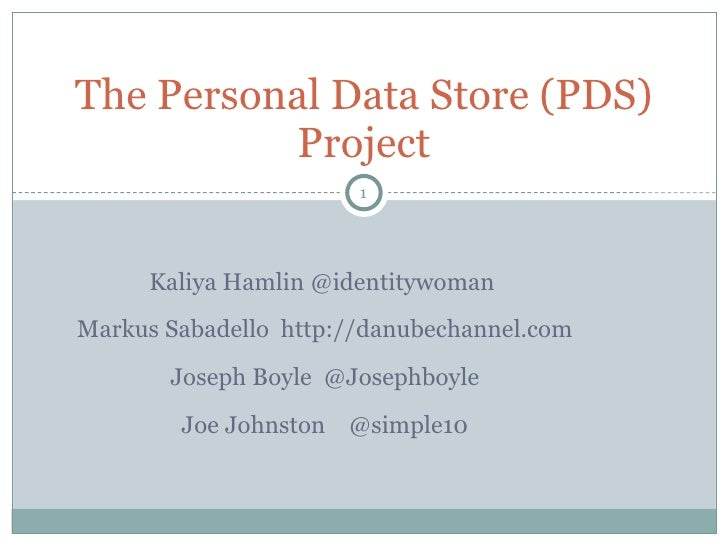 Personal Data Store Project
