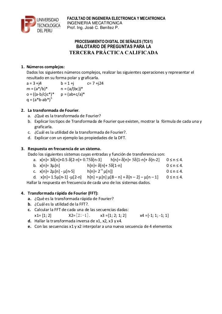 FACULTAD DE INGENIERA ELECTRONICA Y MECATRONICA                         INGENIERIA MECATRONICA                         Pro...