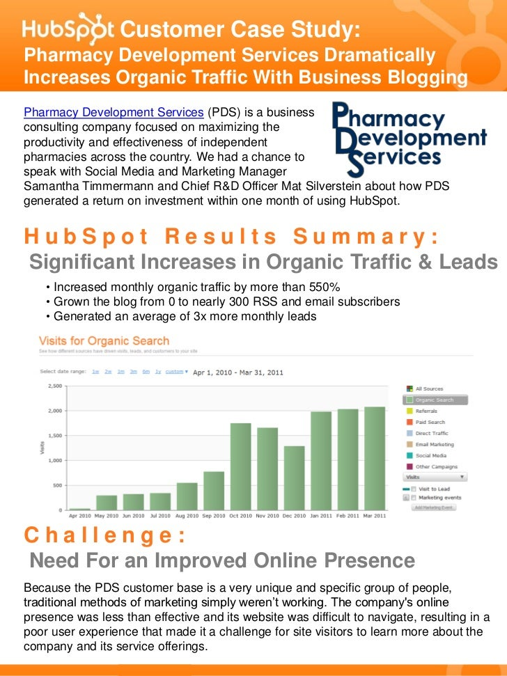 Customer Case Study:Pharmacy Development Services DramaticallyIncreases Organic Traffic With Business BloggingPharmacy Dev...
