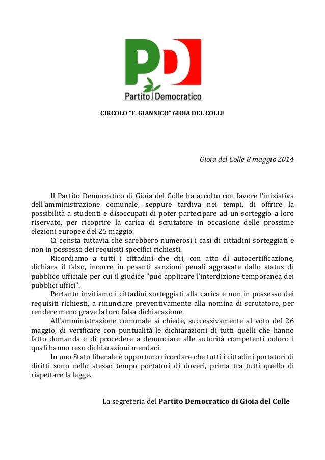 """CIRCOLO  """"F.  GIANNICO""""  GIOIA  DEL  COLLE         Gioia  del  Colle  8  maggio  2014     ..."""