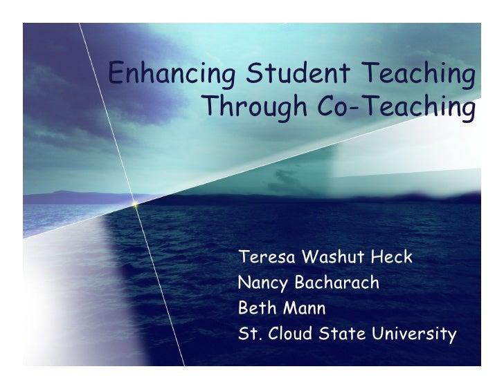 Pds Enhancing Student Teaching Though Co Teaching