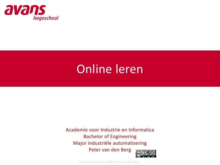 Online leren    Academie voor Industrie en Informatica        Bachelor of Engineering    Major industriële automatisering ...