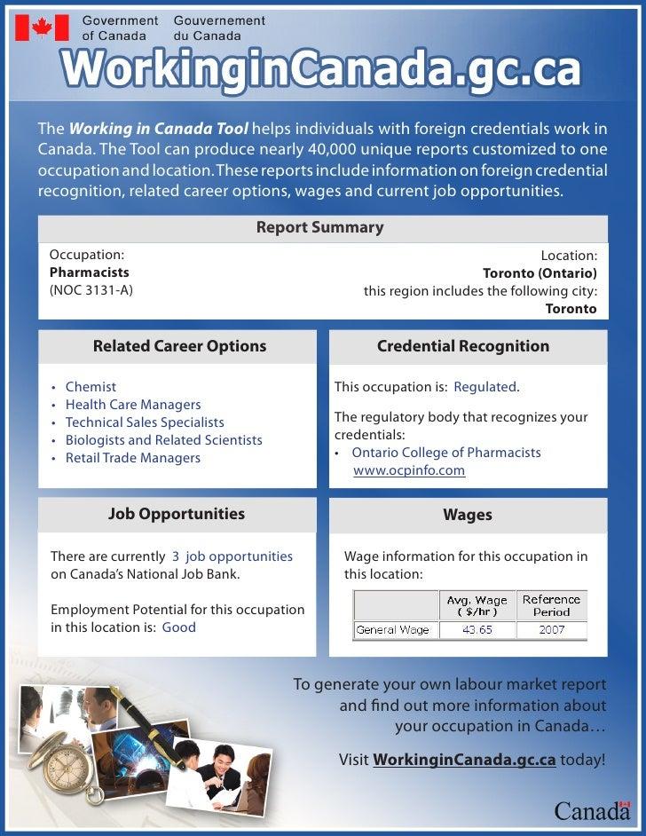 Working In Canada Tool  Factsheet Bilingual