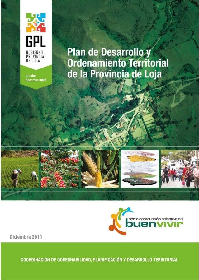 Plan de desarrollo y ordenamiento territorial-GP Loja.