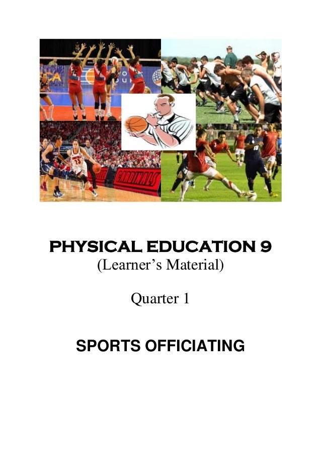 K TO 12 GRADE 9 LEARNER'S MATERIAL IN PE