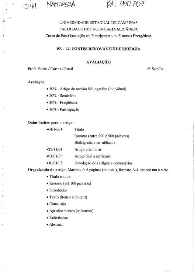 PE 131 Fontes Renováveis de Energia