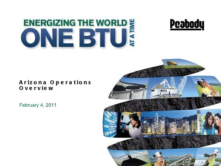 Arizona Operations Overview February 4 , 2011