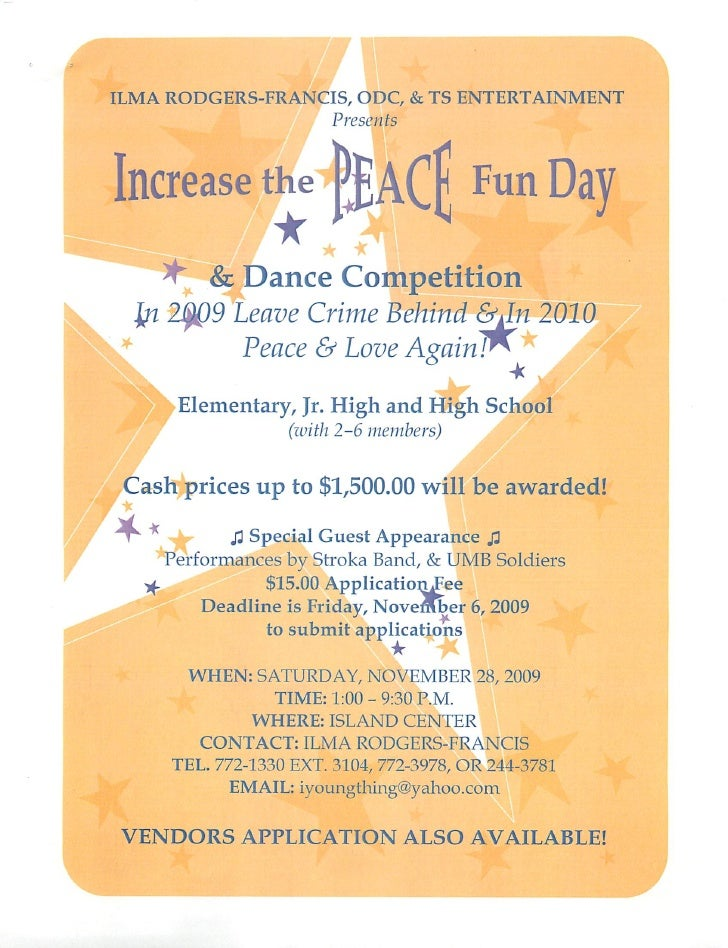 ILMA RODGERS-FRANCIS, ODC, & TS ENTERTAINMENT                               Presents      Increase the (JjACf Fun Day     ...