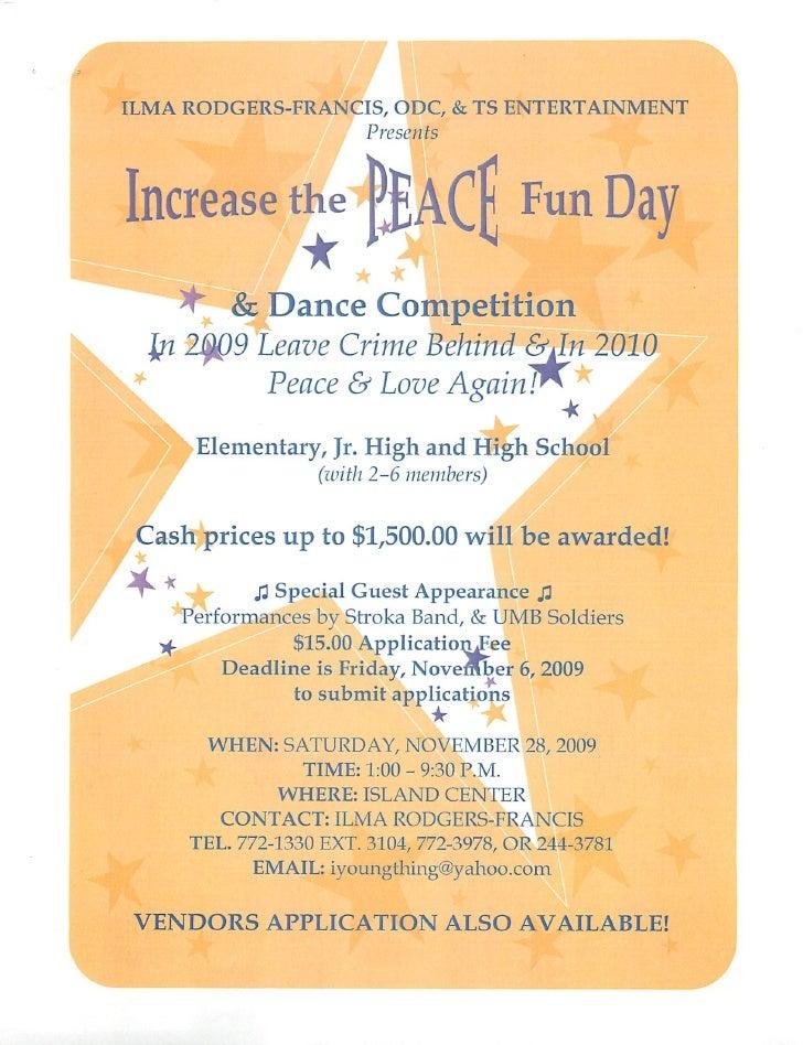 PEACE  Fun  Day