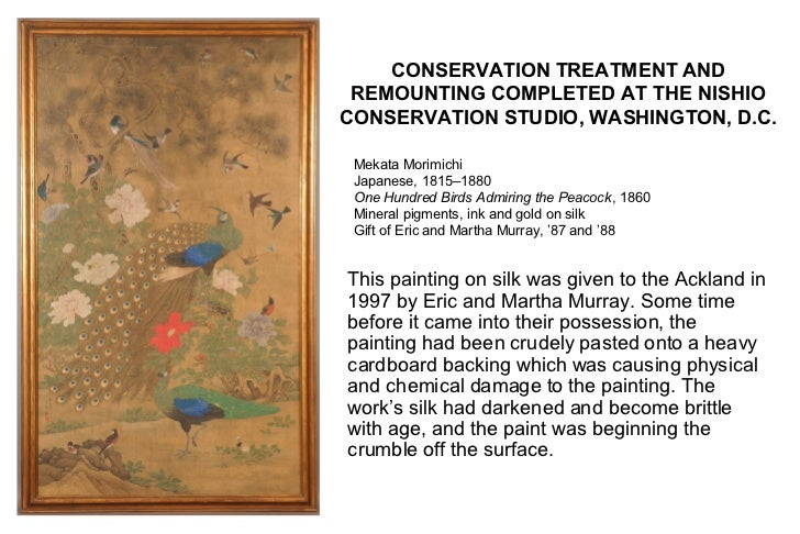 CONSERVATION TREATMENT AND REMOUNTING COMPLETED AT THE NISHIOCONSERVATION STUDIO, WASHINGTON, D.C. Mekata Morimichi Japane...
