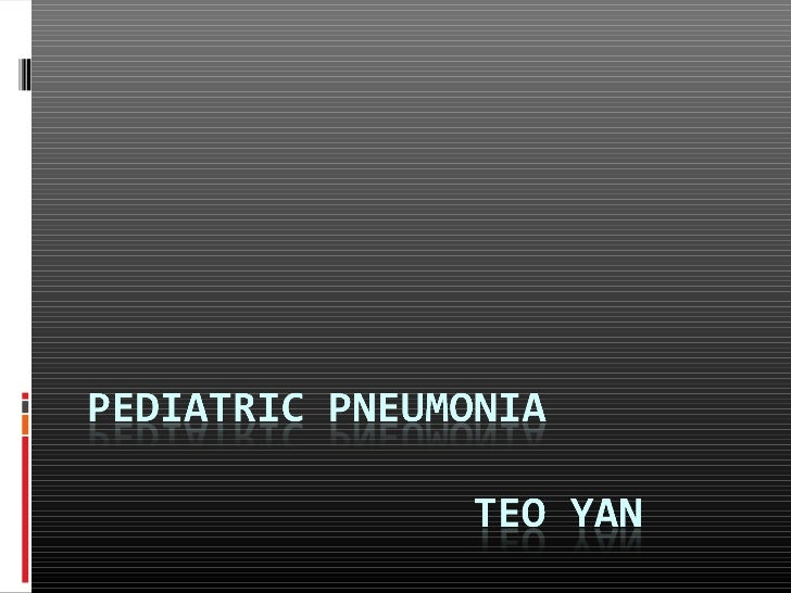 Definition Pneumonia is an inflammation of the  pulmonary parenchyma Most caused by microorganisms,  noninfectious cause...