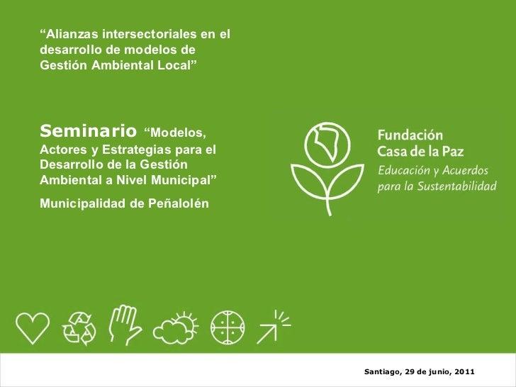 Casa de la Paz, Seminario Gestión Ambiental Local Peñalolén