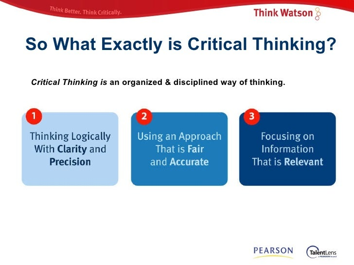Applying Critical Thinking