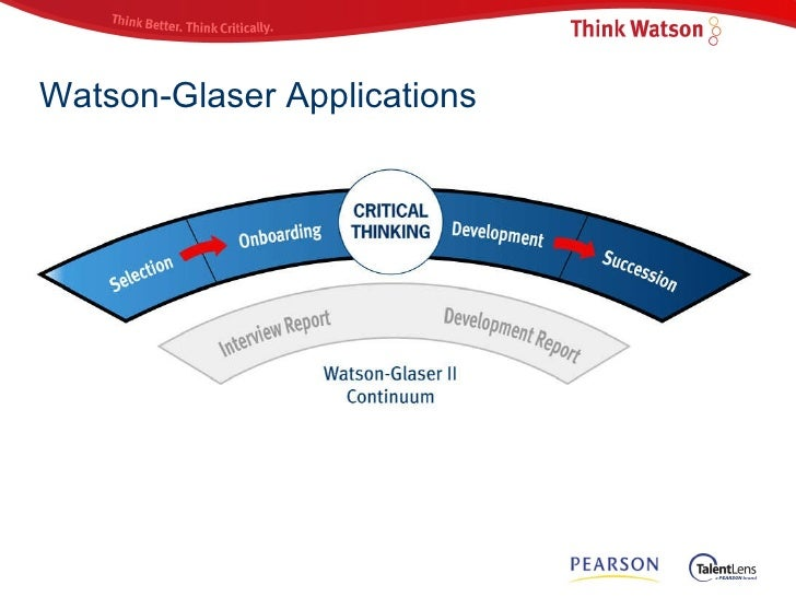 Preparing for the Watson-Glaser Critical Thinking Assessment