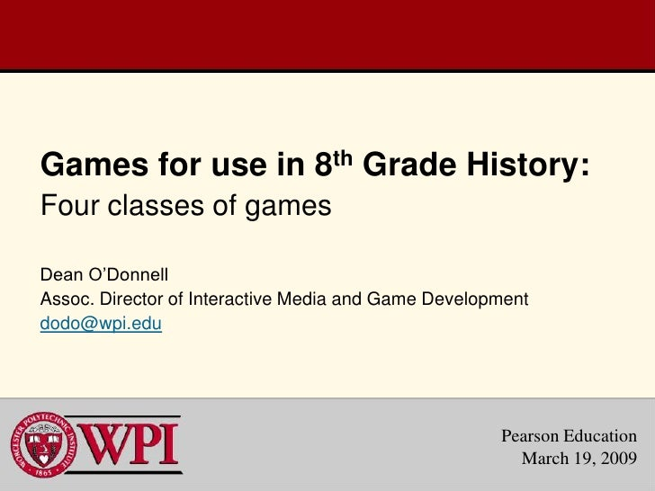 Games for Pearson Education