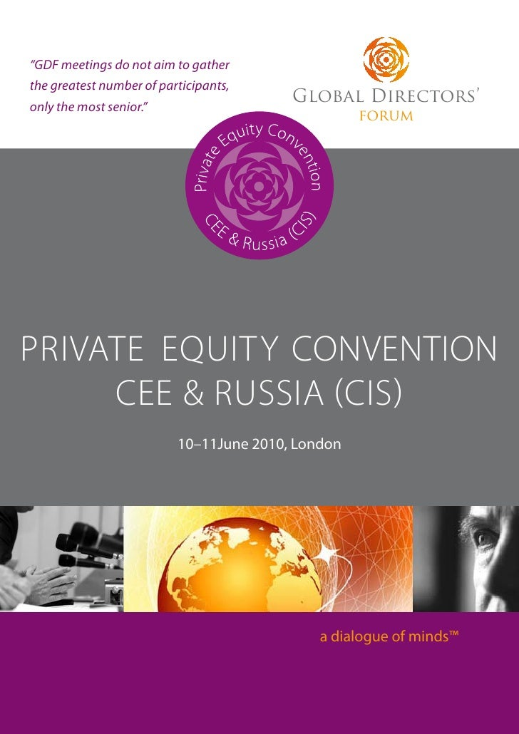 Brochure of the Private Equity Convention CEE & Russia, 10-11 June 2010, London