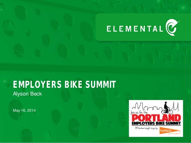 Alyson Beck EMPLOYERS BIKE SUMMIT May 16, 2014